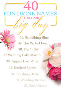 40 Fun Drinks for Your Big Day